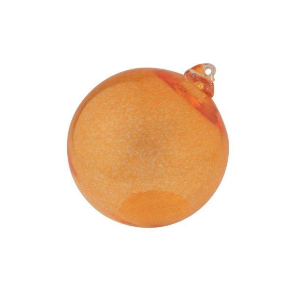Koristelasipallo oranssi