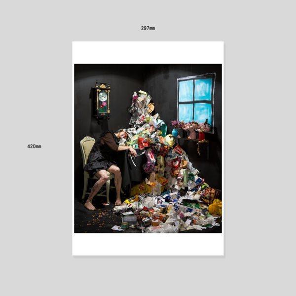 Set & setting -sarjan teos Disposer (2013) Hahnemühle-vedos Koko 29,7 x 42cm Editio 5 kpl Vedos 2/5