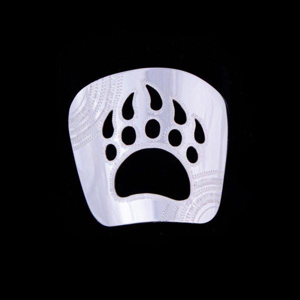 Karhunjälki-kravattikoru hopea
