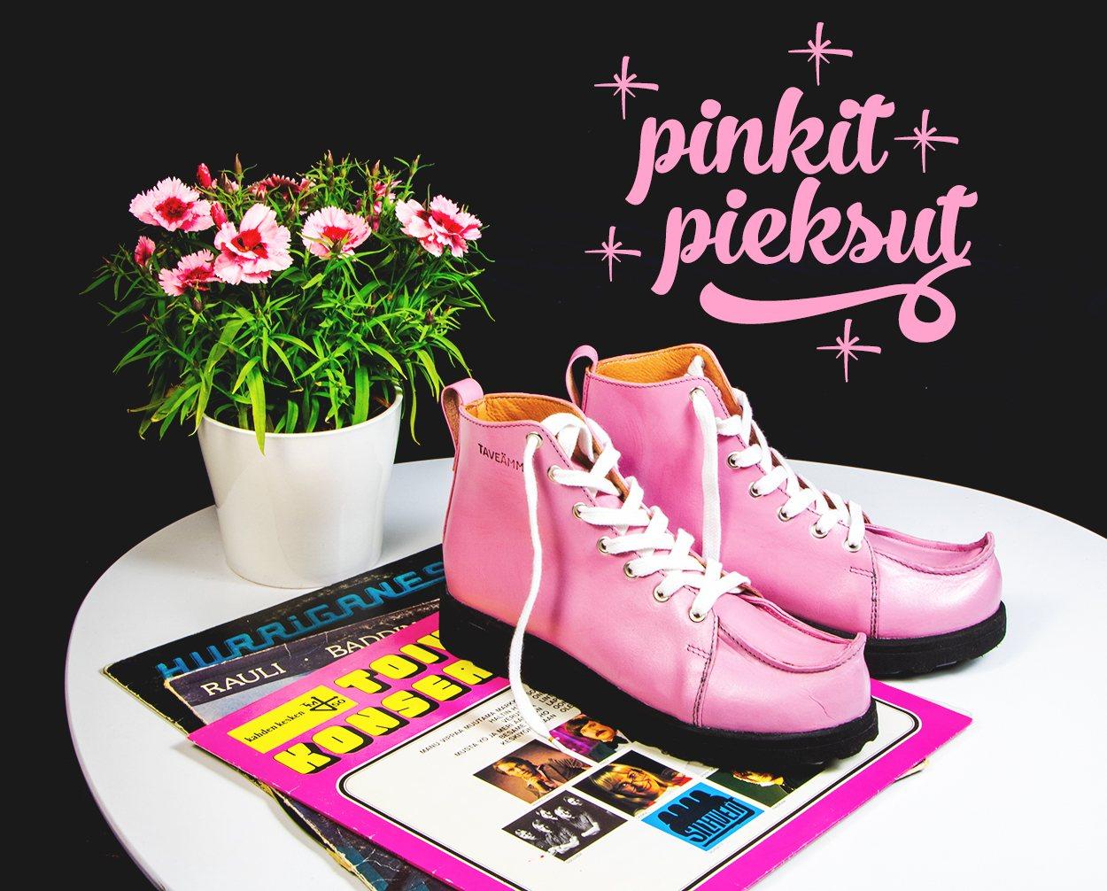Käsintehdyt kengät pinkit pieksut