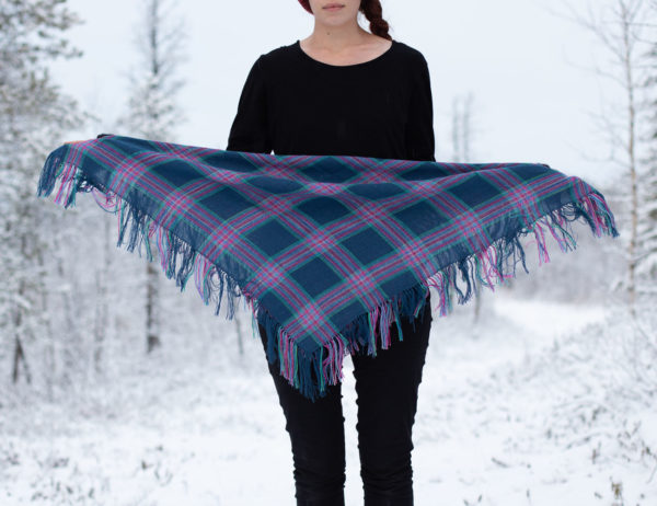 Silkkivillahuivi Inari Handcrafts Revontulihuivi