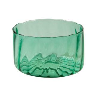 Vihreä lasikulho. Iso salaattikulho.