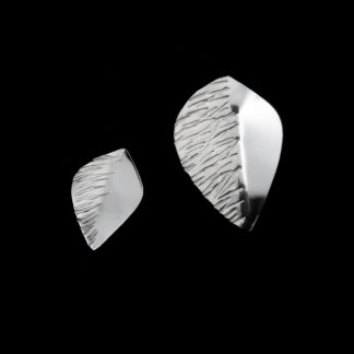 Lehdykkä nappikorvakorut hopeaa