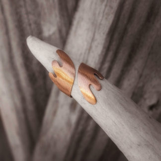 Sarvet sormus kupari harjattu