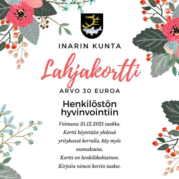 Inarin kunta tyky lahjakortti